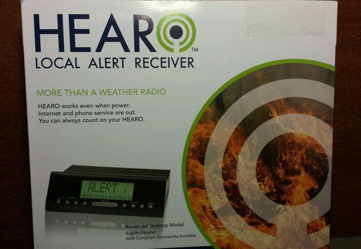 HEARO Local Alert System, EWR Advanced Weather Radio - NEW in Box #HearobyViaRadioCorp