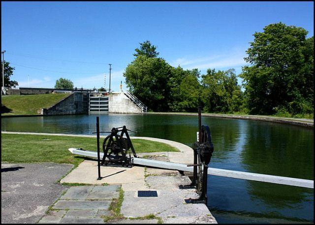 Rideau Canal, Kingston Mills, Kingston Mills Locks, Kingston, Ontario