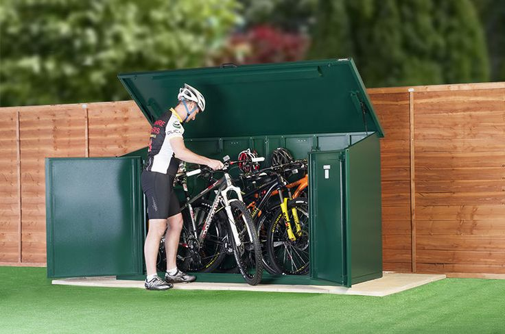 Bike Cycle Shed FOR 29ERS 4 Bike Storage Asgard Secure Bike Sheds | eBay