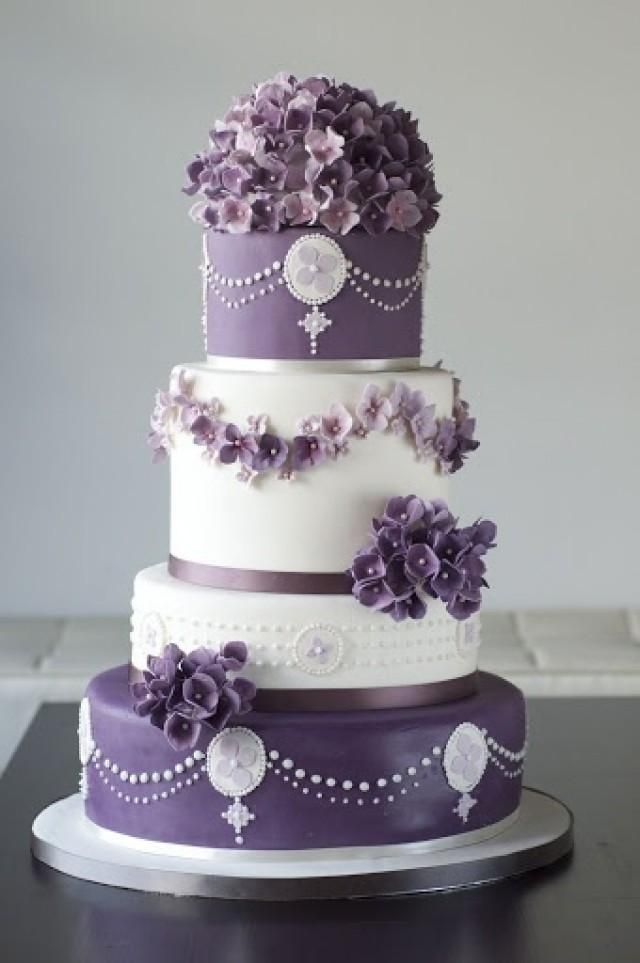See More About Purple Wedding Cakes Hydrangea And Lilac