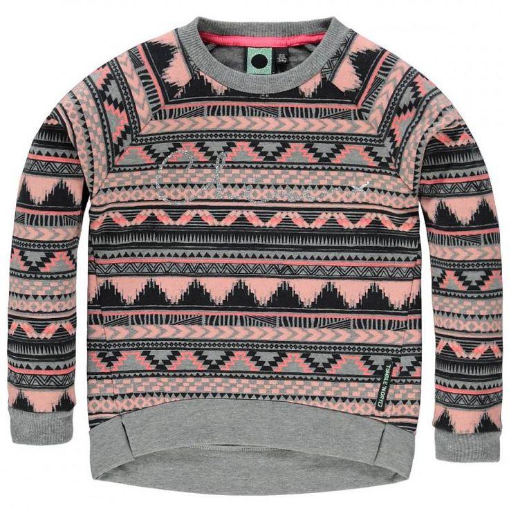 Tumble `N Dry winter 2015 verkrijgbaar maat 92 t.m. 176 #vipkidz #tumblendry #kids #totlaatbestellen #volgendedaginhuis #bezorgen #kindermode #kinderkleding model Esma Girls Mid SW - LSL GREY MELANGE