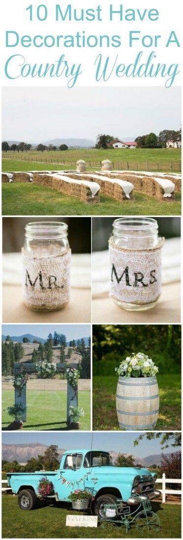 Decoraciones de bodas rusticas infaltables en tu wedding