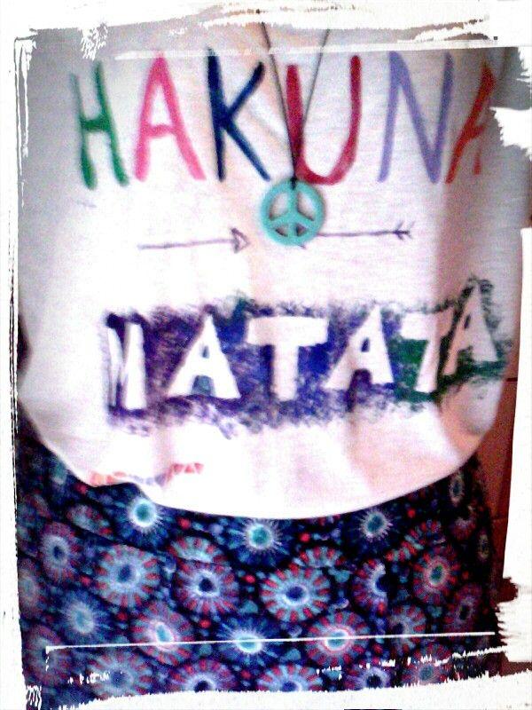 Ηakuna matata & peace #love diy t-shirt