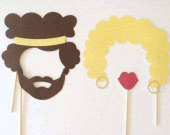 1970 ' s Photo Booth puntelli Afros di LetsGetDecorative su Etsy
