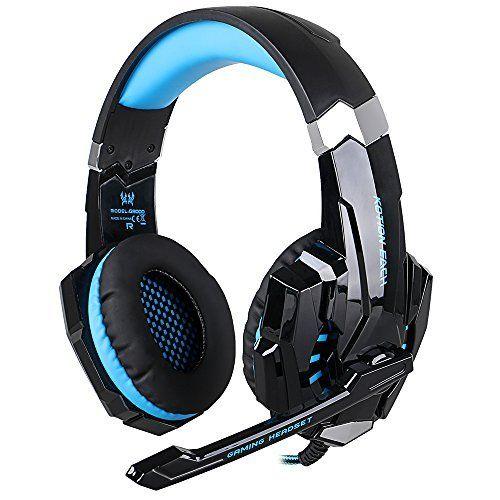 [Micro Casque PS4 Gaming] EasySMX Casque Casque de Jeux pour PS4 Stéréo Filaire Gaming avec Mic LED Lamp Noise Cancellation et Sous-ligne…