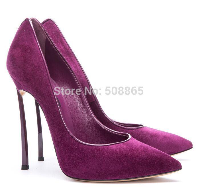 Женщины туфли на высоком каблуке сексуальные 10 см на высоких каблуках подиум Metal тонкие указал toe фиолетовый свадебные туфли, Дамы мода пром размер обуви 33 43 купить на AliExpress