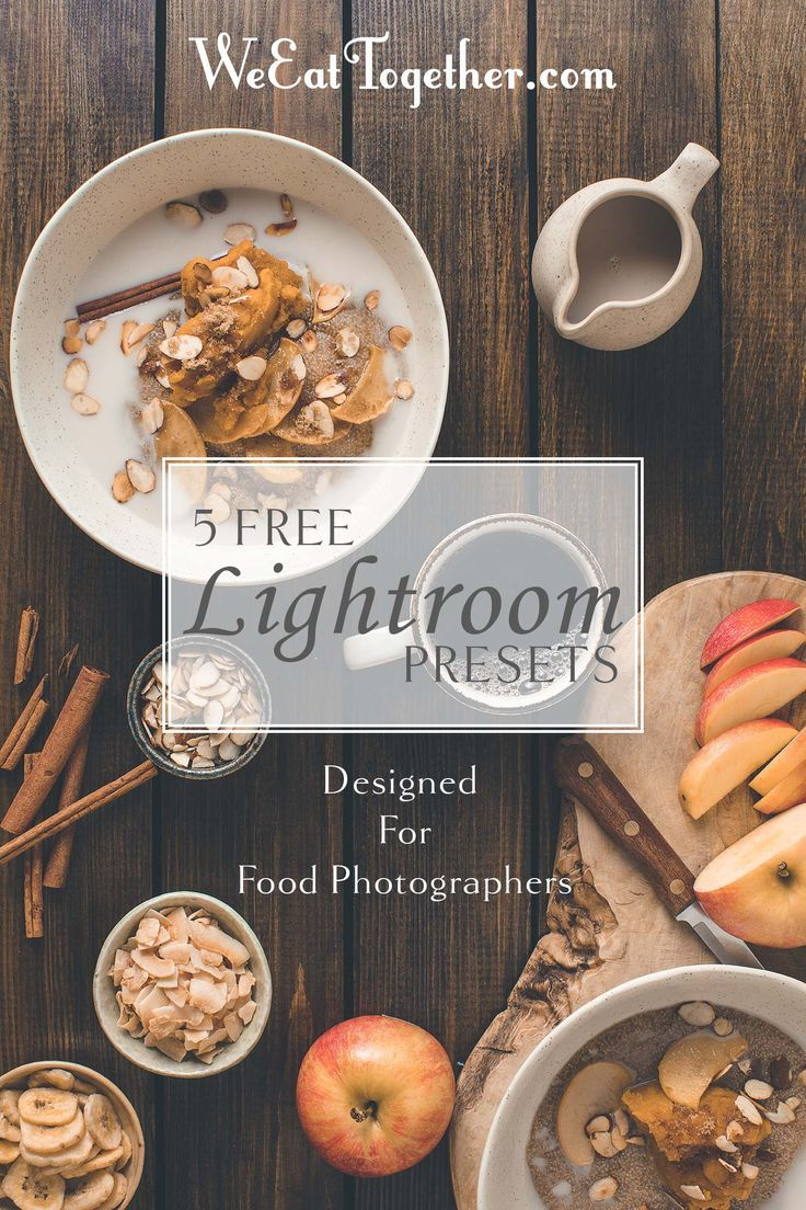 free lightroom presets for food photography