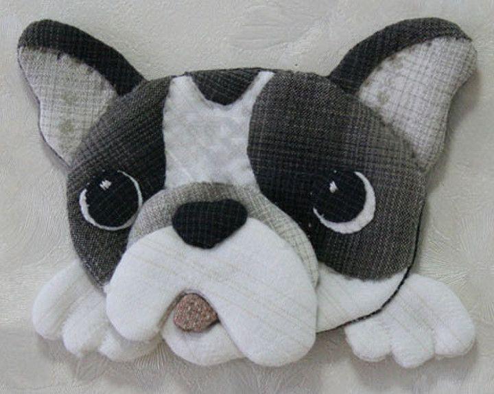 【預購】貝田明美 貼布縫材料包/法國鬥牛犬(不含土台布)