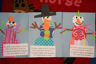 cute poem and snowman activity