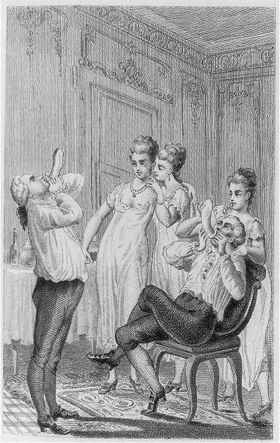 Casanova and the CondomIllus. in Giacomo Casanova, Mémoires, écrits par lui-même. Bruxelles, 1872, v. 4.[Library of Congress]