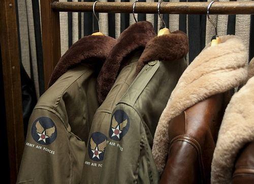 looks like his wardrobe!!! #flight #jacket