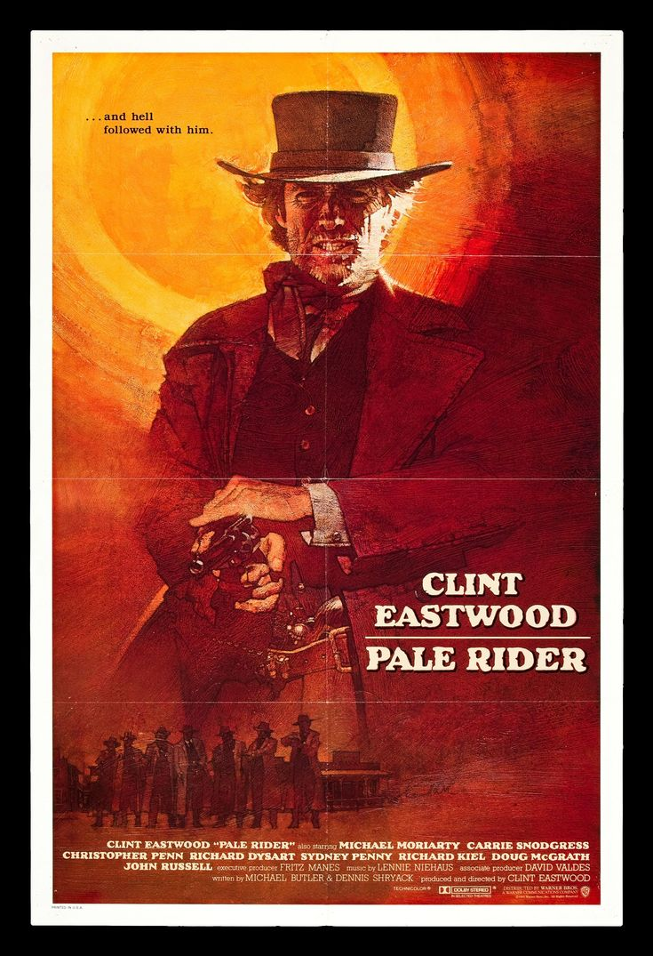 PALE RIDER * CineMasterpieces CLINT EASTWOOD WESTERN ORIGINAL MOVIE POSTER 1985