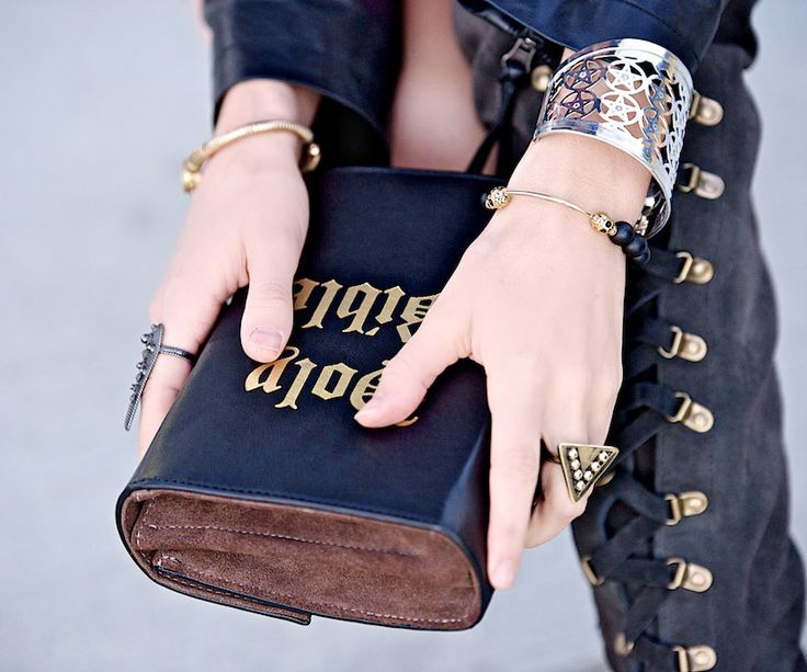 Made with #love & #care, the Holy Bible #clutch from #SkinnyBags is a #trendy piece to get people talking. Reserve your Holy Bible Black #Leather #Clutch for $249.99 on #luevo! #fashion #crowdfunding #handbags