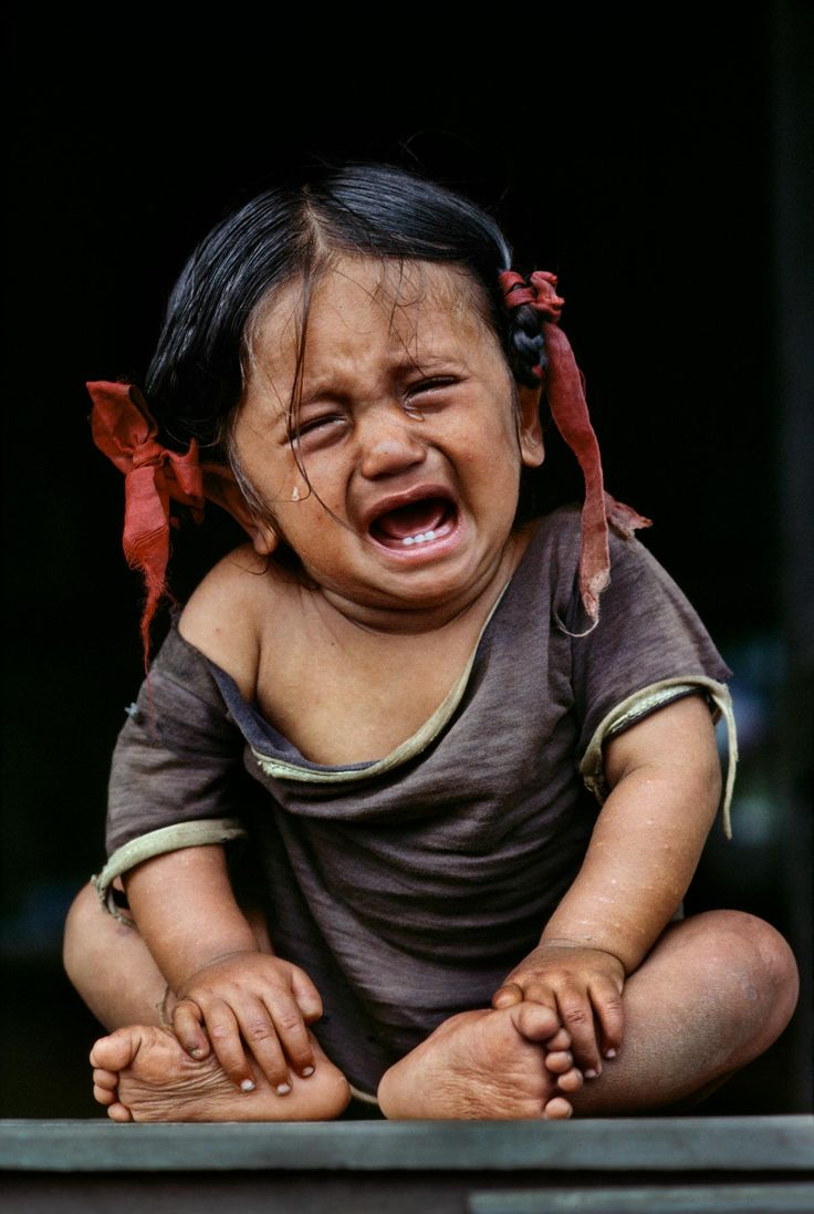 Not a happy little human--Nepal | Steve McCurry