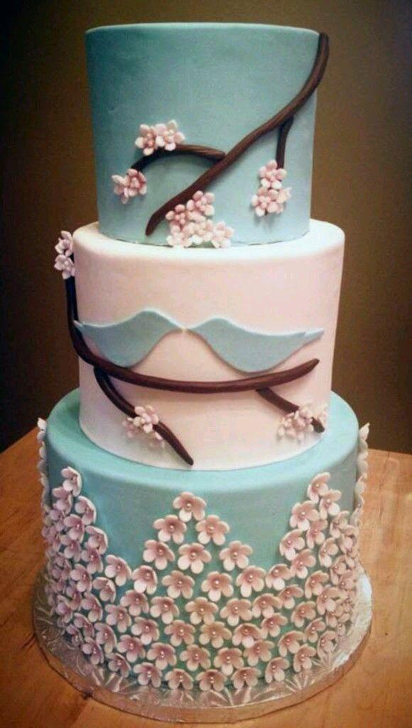 Tendência para bolos de casamento 2015, bolos de casamento 2015, bolos de casamento 2015 com detalhes em azul