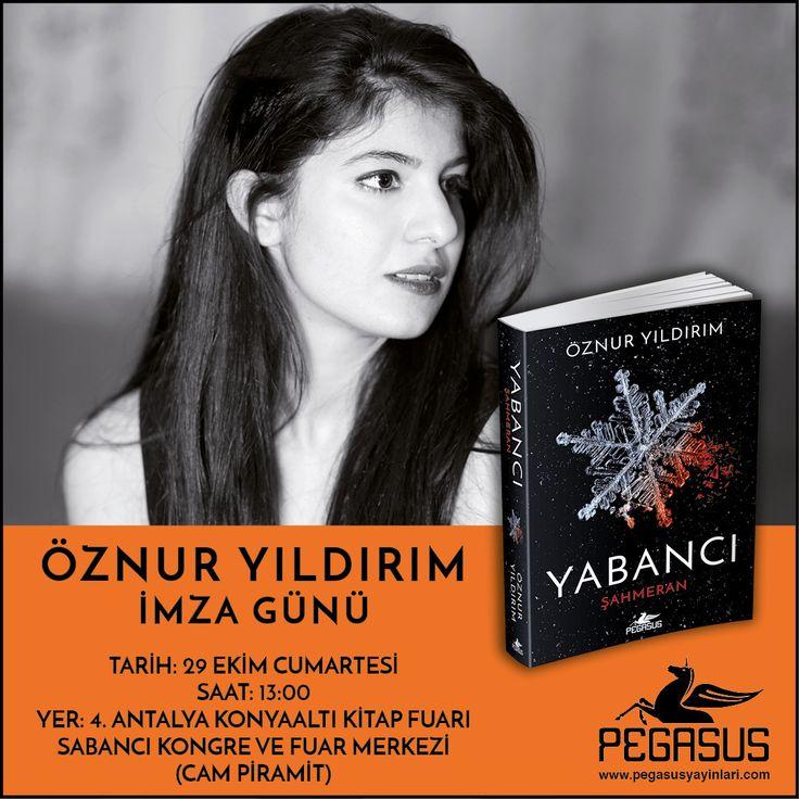 #İmzaGünü Çoksatar Yabancı & Şahmeran'ın yazarı Öznur Yıldırım, 29 Ekim Cumartesi günü 4. Antalya Konyaaltı Kitap Fuarı'nda okuyucularıyla buluşuyor.