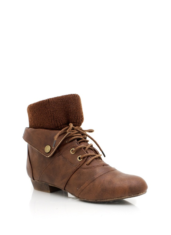 lace-up booties $27.20
