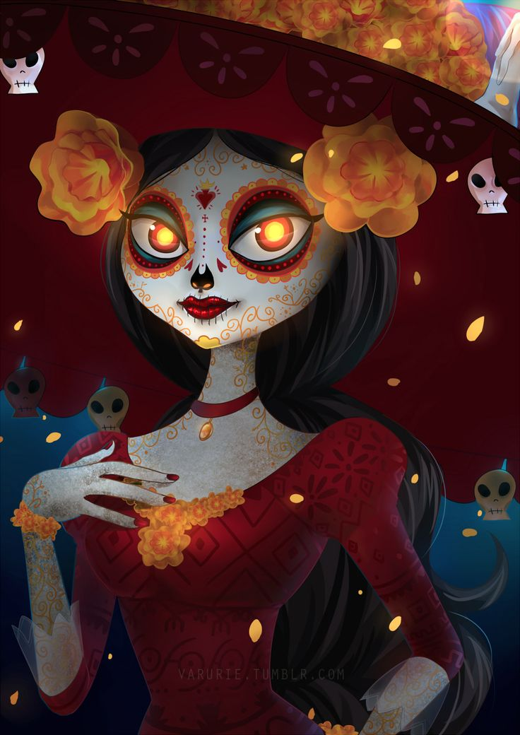 La Muerte by Valerie - The Book of Life art