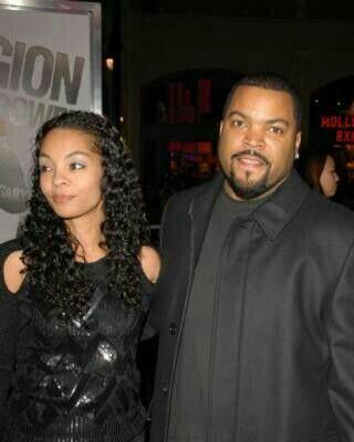 Ice-Cube ( O'Shea Jackson Sr.) with his wife Kimberly, married since 1992.