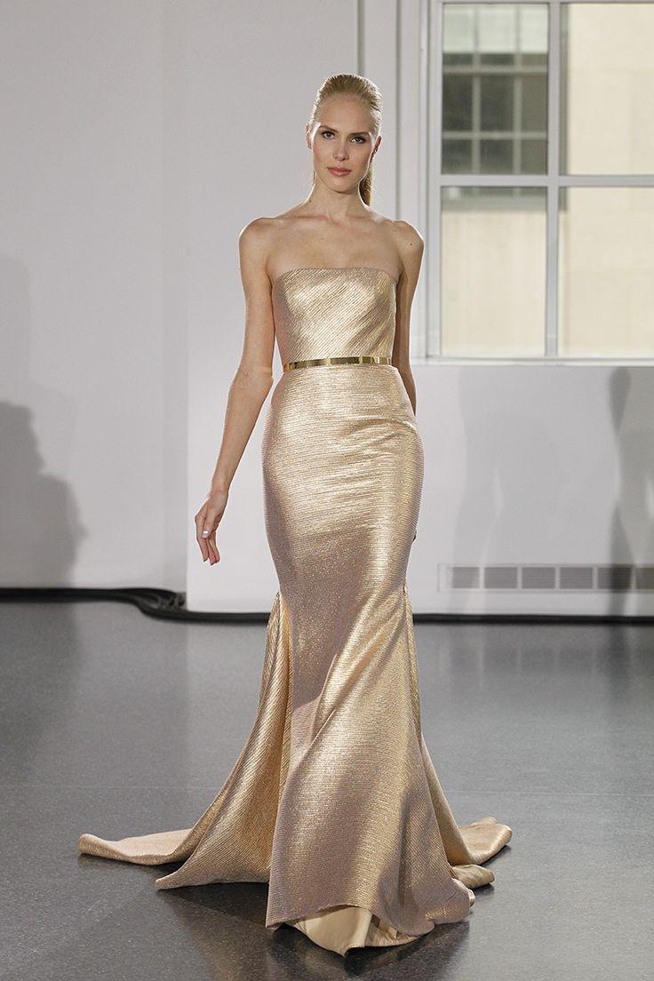 Bridal Fashion Week Fall 2017 What We Re Loving So Far Munaluchi Gold Dresswhite Dressreception