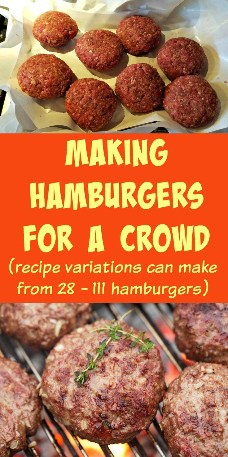 Making Hamburgers for a Crowd, making hamburger for bulk freezing