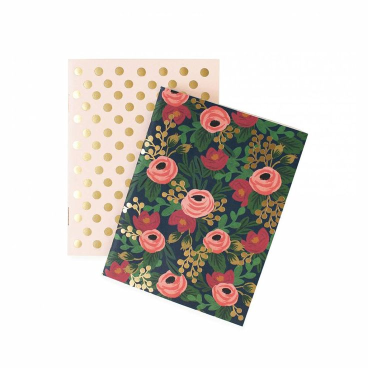 Rifle Paper Co. Rosa Pocket Notebooks - Set Of Two
