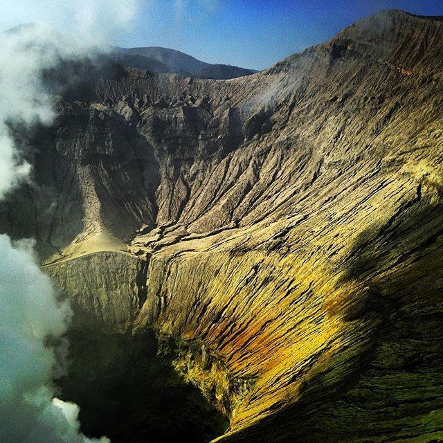 Volcano crater at Mount Bromo, East Java Indonesia ... Bromo Tengger Semeru National Park is located in East Java, Indonesia, to the east of Malang and to the southeast of Surabaya, the capital of East Java.