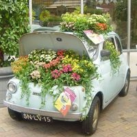 Perfect for displaying outside your floral shop.  Big attention getter.