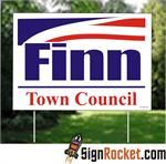 Coroplast Signs: Corrugated Plastic Signs Campaign Lawn Signs