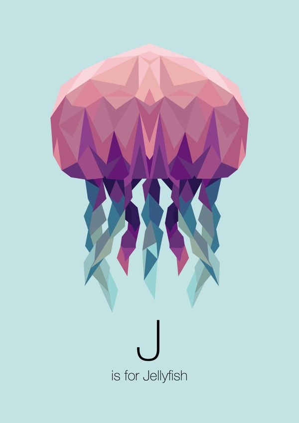 Animal Alphabet by Linn Maria, via Behance. Nice polygonal illustration.