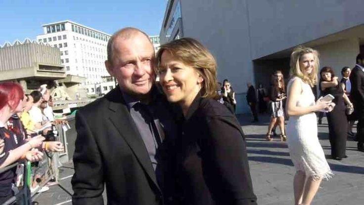 Nicola Walker and Peter Firth via Twitter / @MrsGilesFarmer: BAFTA #TeamSpooks