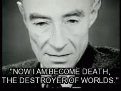 Dr. J. Robert Oppenheimer, father of the atom bomb.
