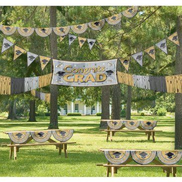 Backyard Graduation Party Ideas backyard graduation party ideas sunscreen and bug spray basket Black And Gold Graduation Party Decorations