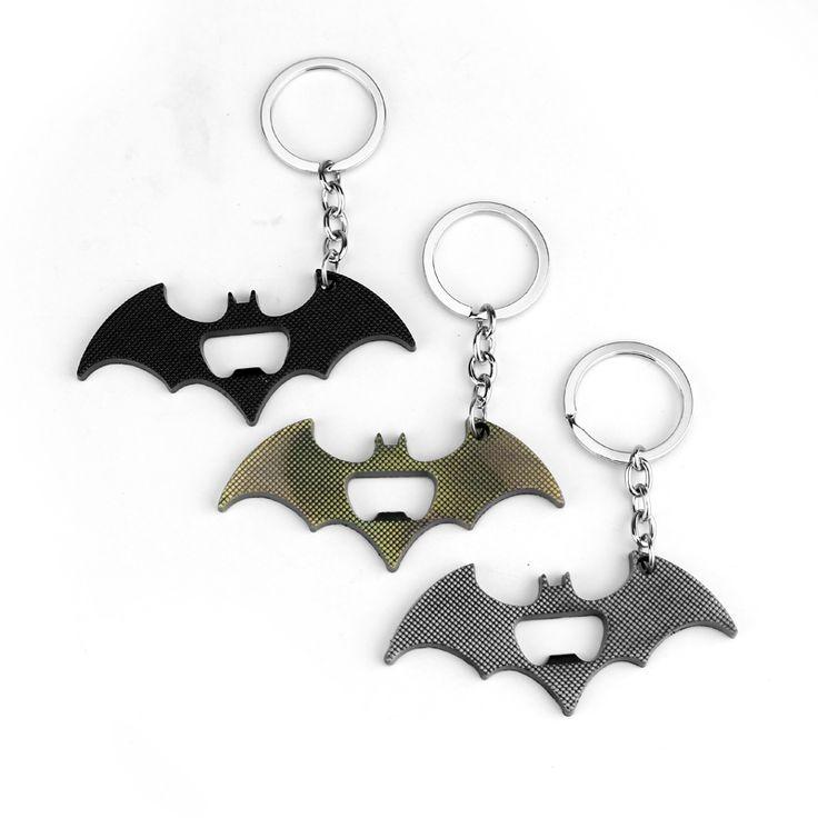 New Arrival Batman Bottle Opener Keychain Alloy Superhero Batman Figure Comics Key chain ring key holder Movie Jewelry Souvenirs