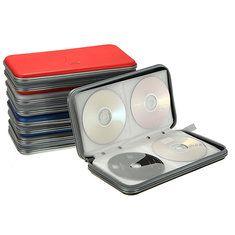 IPRee Storage Bag Assorted Colors 80 Disc CD DVD Portable Storage Case Bag Holder