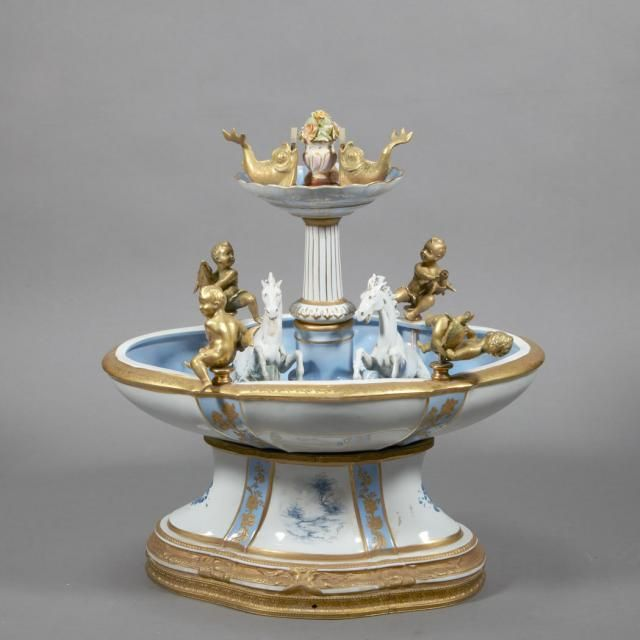 Sevres Style Gilt Decorated Porcelain Table Fountain for Sale at Auction on Wed, 02/06/2013 - 07:00 - Belle Epoque: 19th & 20th Century Decorative Arts   Doyle Auction House