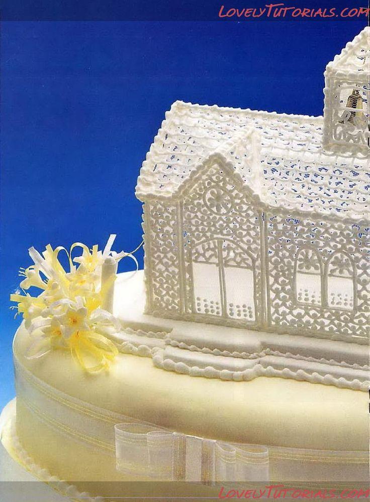 МК церковь из айсинга- Royal Icing church tutorial - Мастер-классы по украшению тортов Cake Decorating Tutorials (How To's) Tortas Paso a Paso