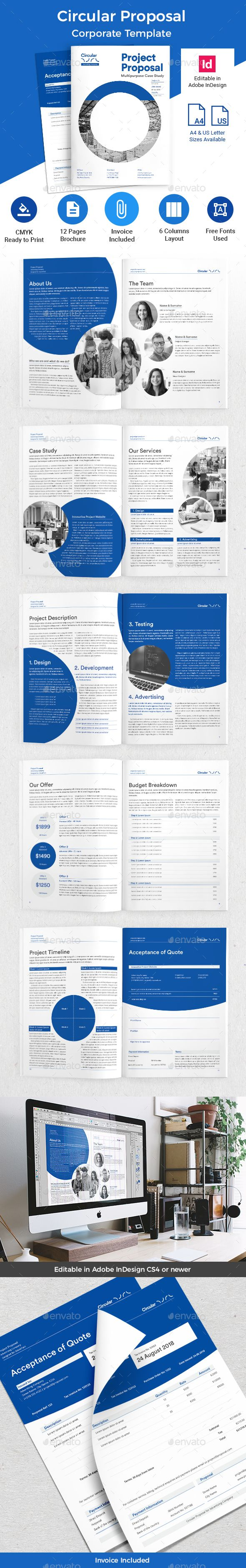 Circular #Proposal - #Corporate #Brochures Download here:  https://graphicriver.net/item/circular-proposal/19755329?ref=alena994