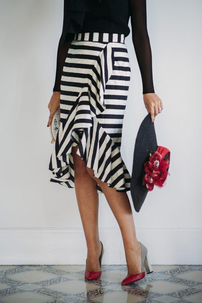 4e0107f97 Look invitada boda: black&white en 2019 | Máxi - Midi Skirt | Faldas ...