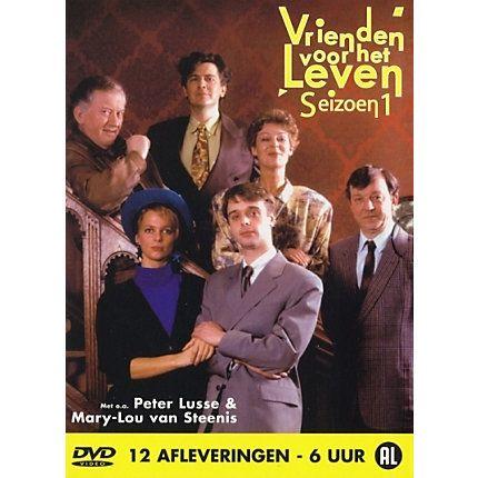 """1991 Vrienden voor het leven (RTL4). Een Nederlandse sitcom die van 1991 tot en met 1995 door RTL 4 werd uitgezonden. De serie was gebaseerd op de Britse tv-serie """"The Two of us"""" van Alex Shearer. De serie werd geproduceerd door Joop van den Ende TV-Producties, later Endemol. Vrienden voor het leven draait om de gebeurtenissen van het samenwonende stel Eddie Veenstra (Peter Lusse) en Ellen van den Berg (Mary-Lou van Steenis) met hun familie en kennissenkring."""