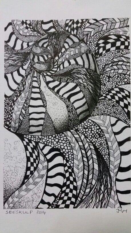 Zentangle sea shell