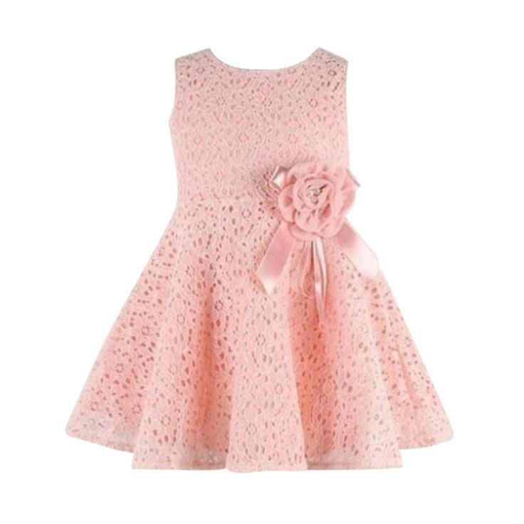 Newest Summer Toddler Baby Girls Kids Lace Floral Dress One Piece Party Princess Dresses Girl Vestido