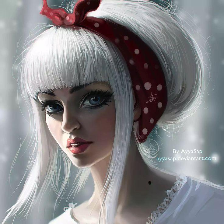ArtStation - White hair, Ayya Saparniyazova