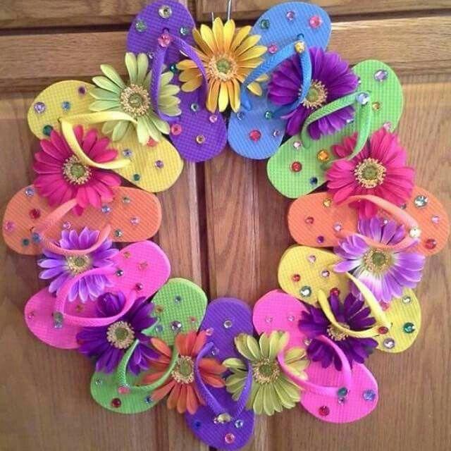 Flip flop summer wreath                                                                                                                                                      More