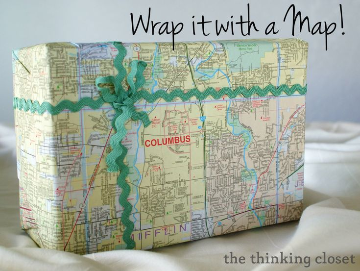 Best 25 map wrapping paper ideas on pinterest map gas diy map 5 creative diy wrapping paper ideas this one is great for a gumiabroncs Choice Image