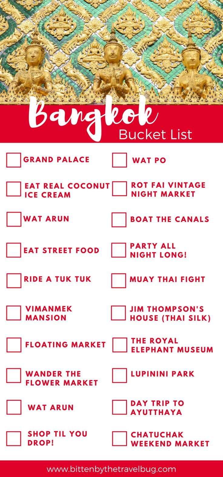 Travelling to Bangkok and not sure what to do? Check out this Bangkok Bucket List with 20 great ideas about what to do in Bangkok for first time visitors! | #Bangkok #Thailand #Asia |