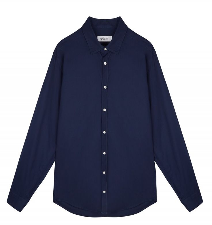 Our own Sefton Shirt in soft dark blue cotton, featuring a small point collar, shell buttons and mitred cuffs. Drawing on years of experience working with some of the world's best designer brands, our Sefton collection is a range of luxe essentials for daily use. Working directly with our factory in Portugal means that we cut out the middlemen, allowing us to deliver a product of exceptional quality at a great price. #newarrivals #sefton #shirts