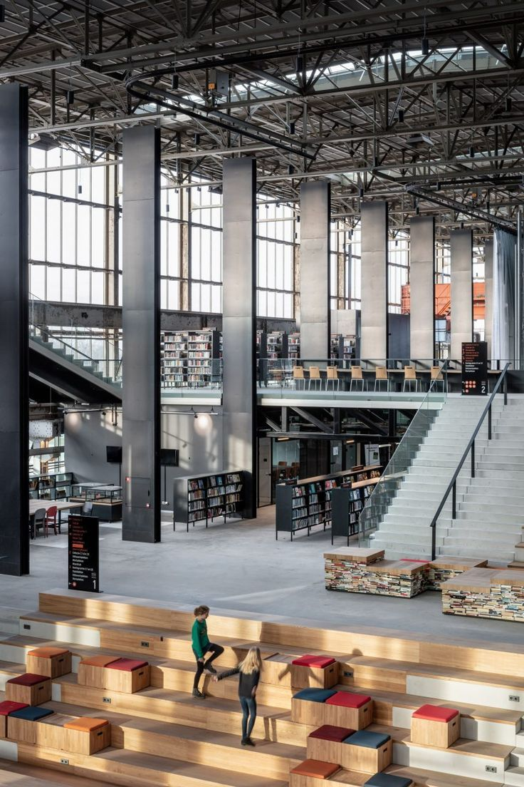 Civic Architects creates public library in vast lo… – #Architects #Civic #crea…