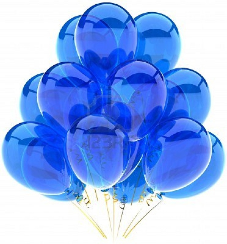 Sheer Blue Balloons...as a kid I always chose the blue balloon....in Denmark we even have a song about the blue balloon being the only thing a kid wanted for her birthday!!