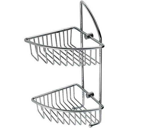 Sanliv Wire Shower Basket Is Available In A Chrome Brushed Nickel Pvd Gold Or Satin Finish Bathroom Accessory Made Of Attractive Lon